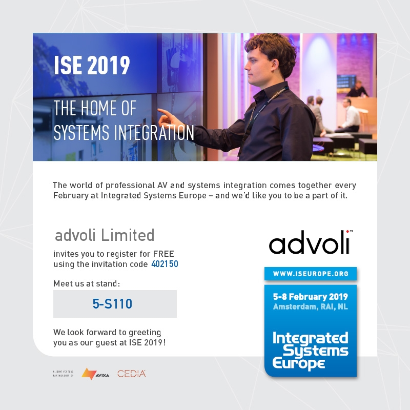 Integrated Systems 2019 Invitation from advoli