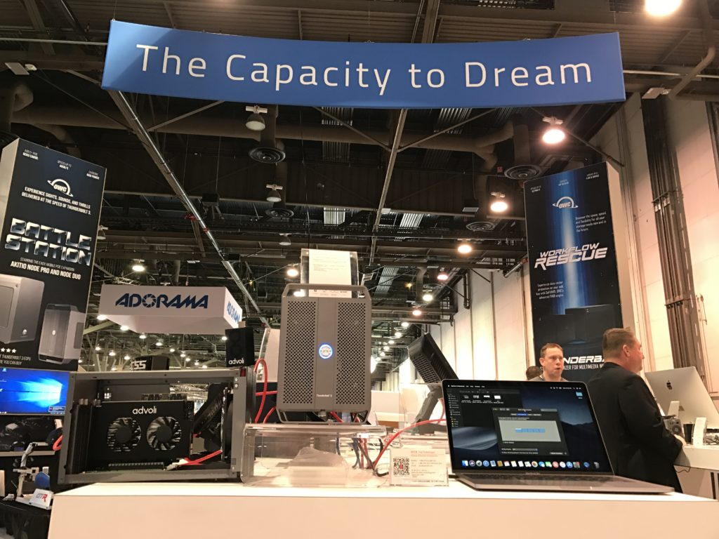 Advoli | advoli with OWC, Macsales and Akitio at NAB show