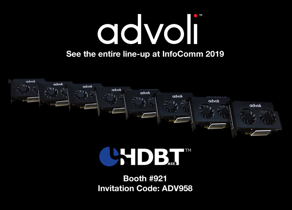 advoli invitation to InfoComm Florida 2019