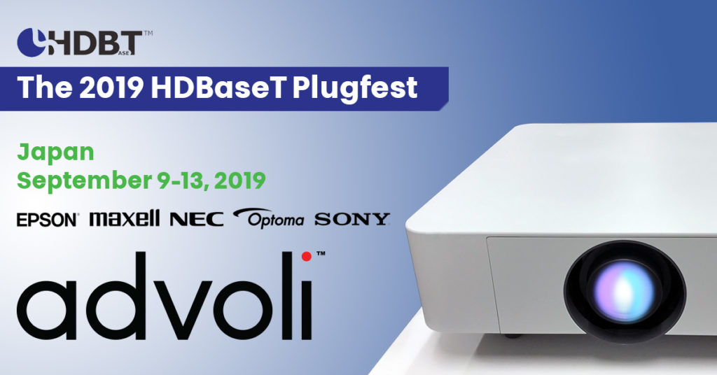 advoli at HDBaseT Plugfest 2019 with Epson, Sony, Maxell, NEC and Optoma