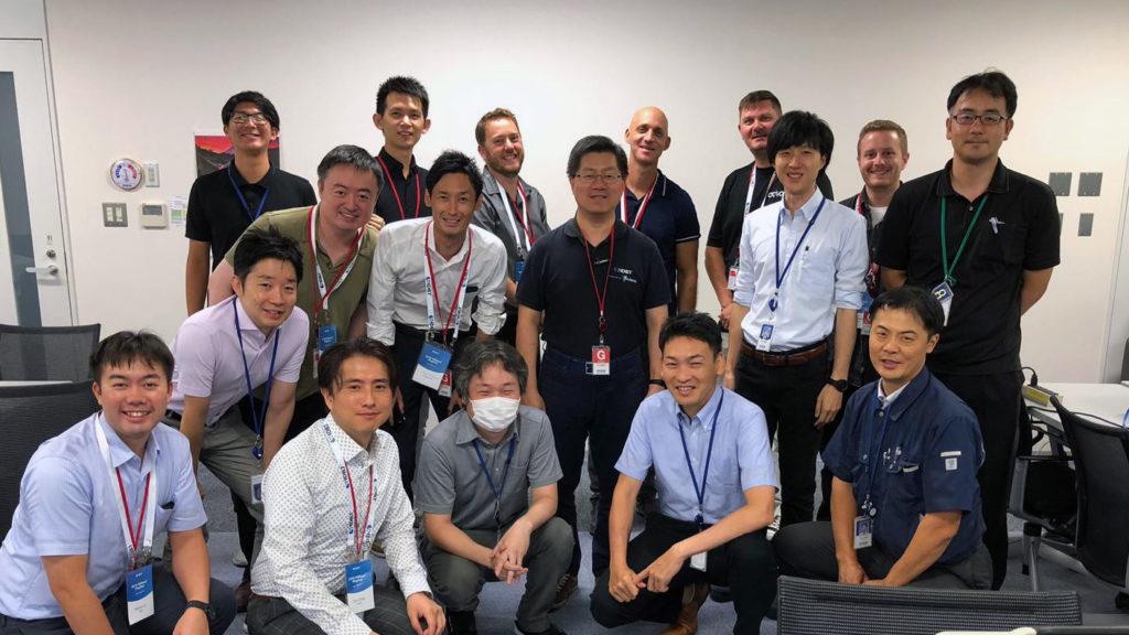 Team 1 Atlona, Aten, Ad-Techno and advoli at Epson Japan HDBaseT Plugfest 2019