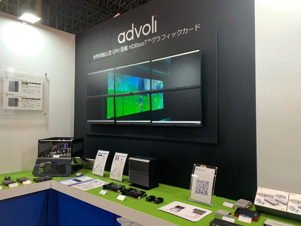 advoli HDBaseT video cards and ADTECHNO HDBaseT server at Inter Bee 2019 with ADTECHNO