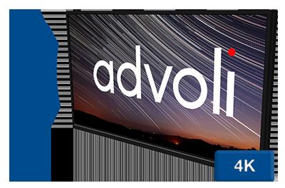 Advoli HDBaseT TV With Sound and 4K